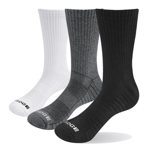 3P1901 Unisex Breathable Cushion Cotton Crew Socks Outdoor Sports Hiking Socks(3 Pairs /Packs)